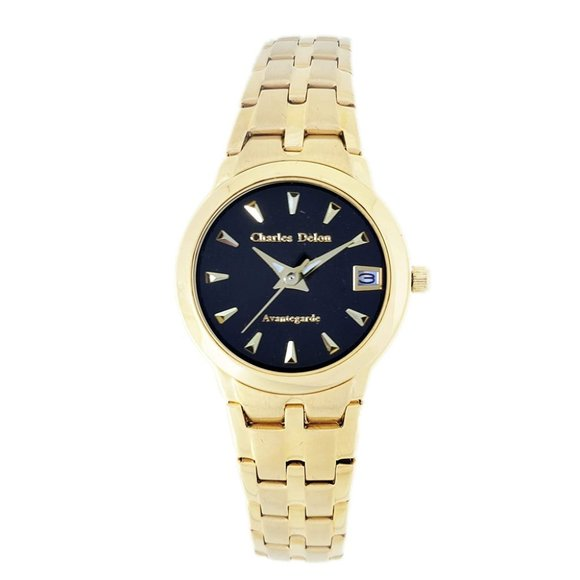 Charles Delon Dress/Formal Style Gold Watch